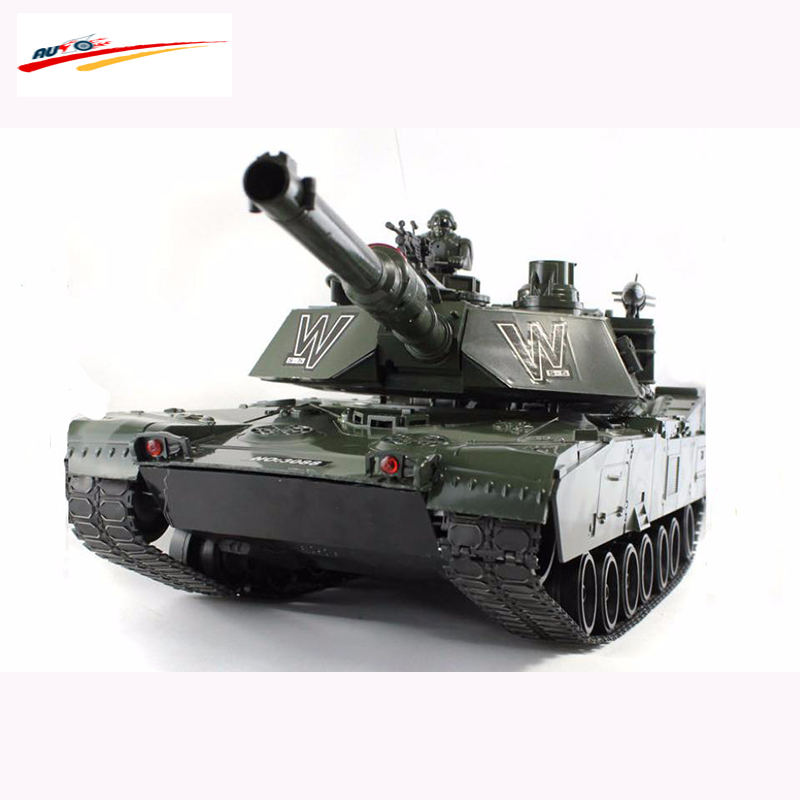 80cm RC Tank US M1A2 Tank 1:6 Scales 7CH Remote Control simulation Tank with launch cannonball tank Electronic Tank Model Toys