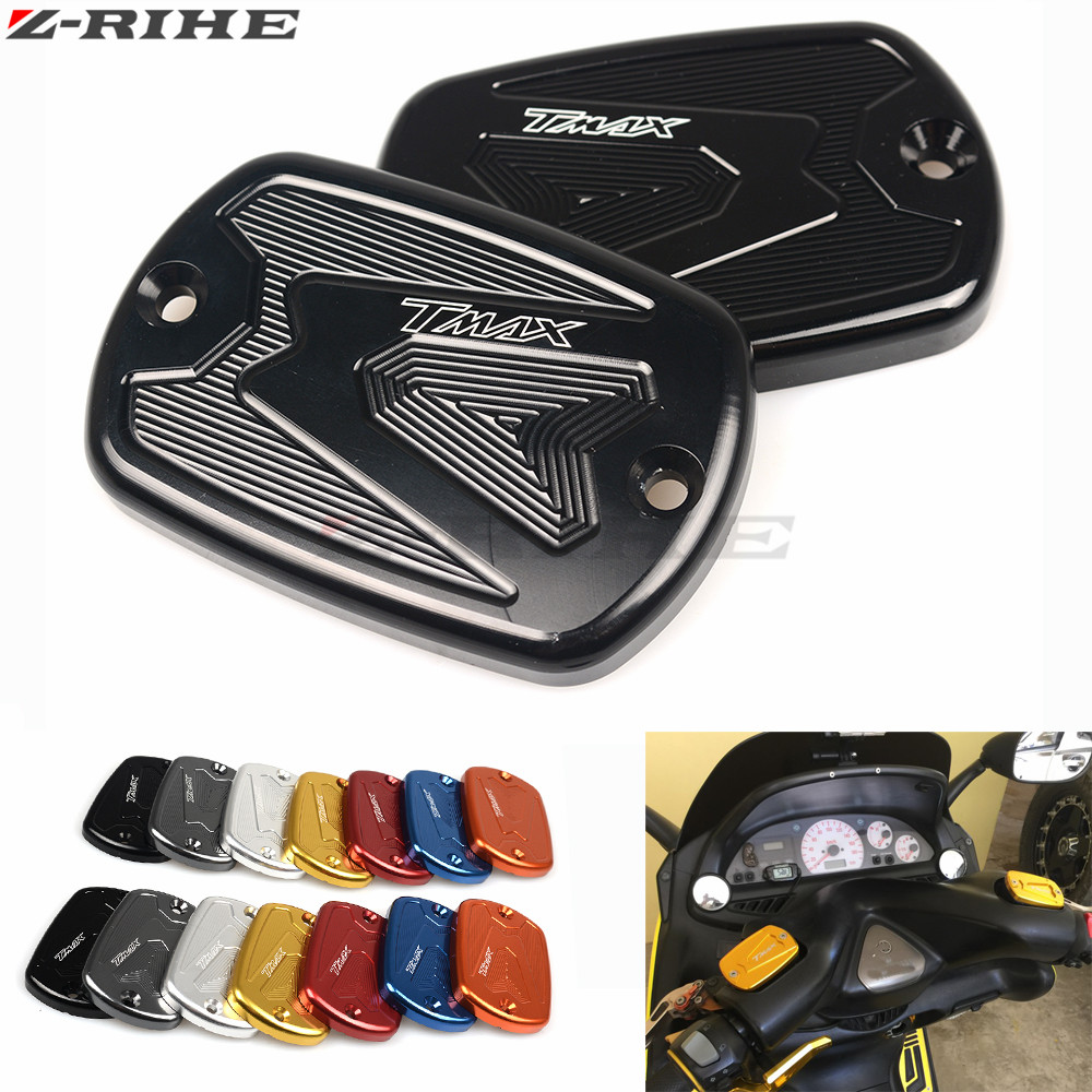 for Tmax 530 500 CNC Brake Fluid Reservoir Cap Cover For Yamaha T Max T-Max 500 2008-2011 Tmax 530 2012 2013 2014 2015 motorcycle cnc front brake fluid reservoir cap cover for yamaha t max 530 500 tmax530 xp530 2012 2016 tmax500 xp500 2008 2011