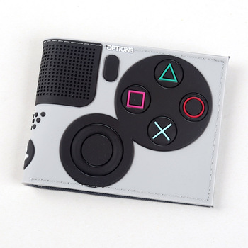 Game Handle Playstation wallet  3D Touch and super cool Men Wallets PVC Purse  Bi-Fold 8
