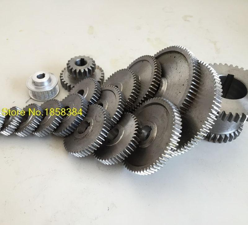 17pcs set mini lathe gears Metal Cutting Machine gears lathe gears Accessories for 0618 Lathe Fozhu