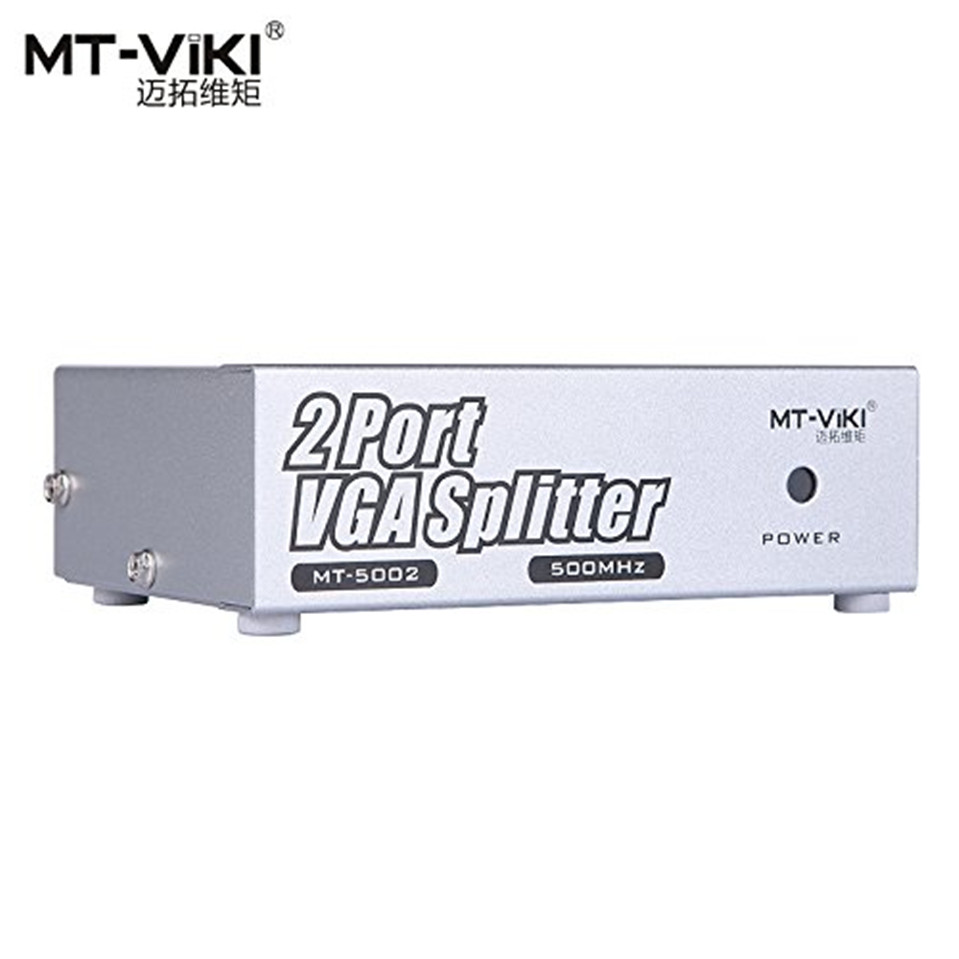 2017 High Quality MT-VIKI VGA Video Splitter Distributor 1 input to 2 Output Ultra Clear support widescreen Monitors MT-5002