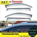 Diseño de coches ventana viseras para KIA Sorento 2009 2010 2011 2012 2013 2014 sol protección contra la lluvia cubre coche Stylingg toldos dom refugio