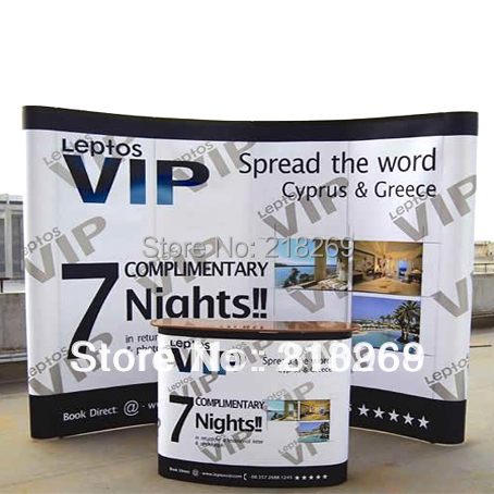 8X8ft Arc Pop up Backdrop with  Reception stand ,  free shipping to Malaysia, Japan, Singapore