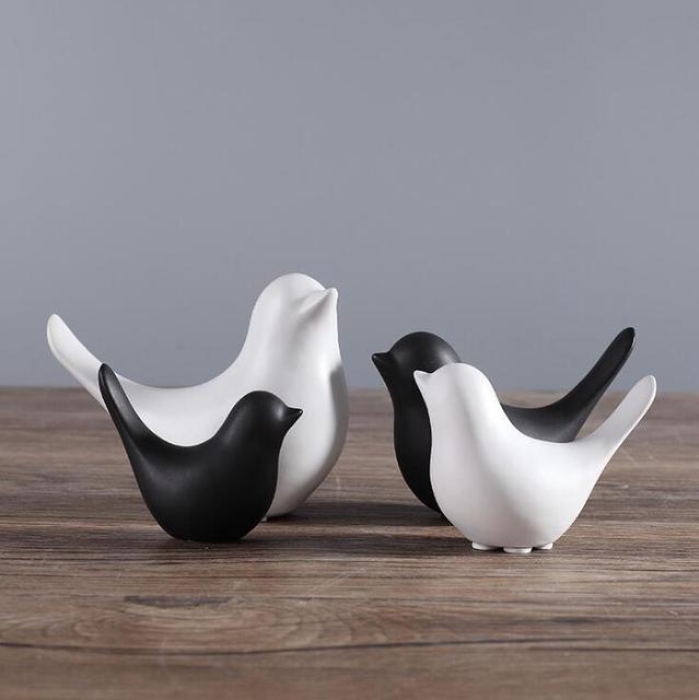 Famoso HOT creativo di ceramica figurine di animali in bianco e nero  EW83