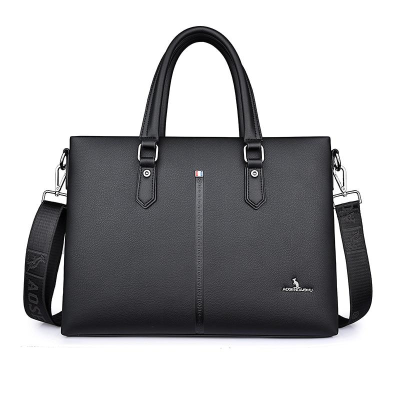 Men Briefcase Computer-Bag Business Tote Crossbody-Bag Messenger Luxury New Split Brand