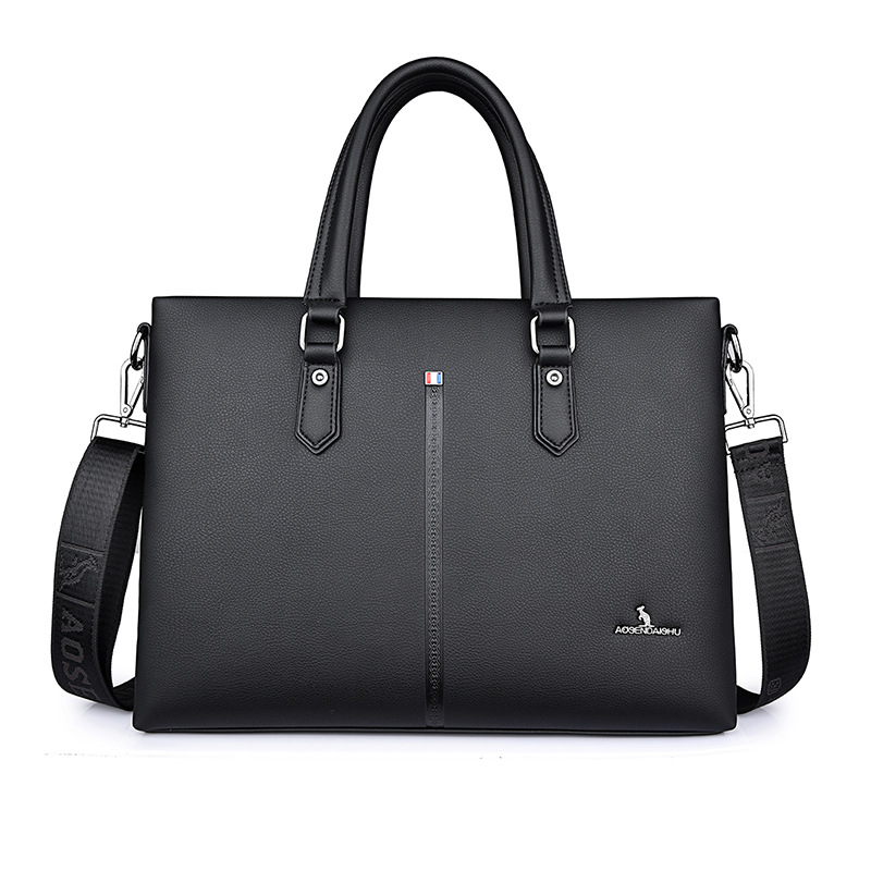 New Luxury Split Leather Business Men Briefcase Male Briefcase Shoulder Bag Men Messenger Crossbody Bag Brand Tote Computer Bag