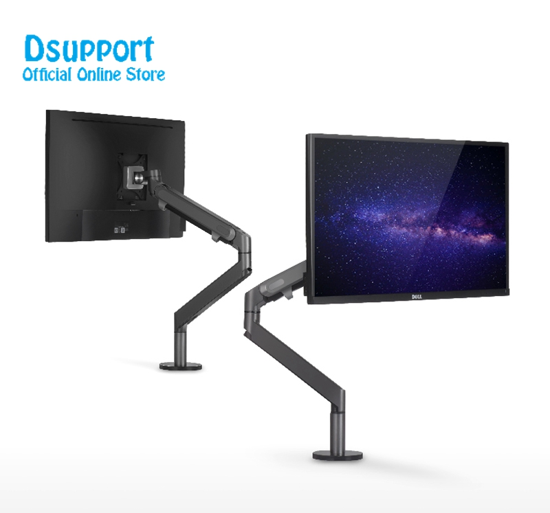 Aluminum height adjustable 17-32 inch LCD LED Monitor Holder Arm Bracket 360 Degree Rotate Computer Monitor Mount Stand OZ-1