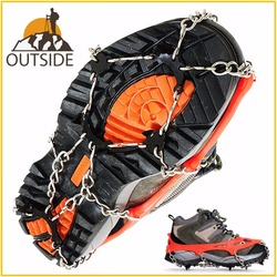Quality M L Size Crampons 8 Teeth Outdoor Mountaineering Hiking Antislip Ice Snow Spikes Shoe Crampons Shoe Spikes Skidproof