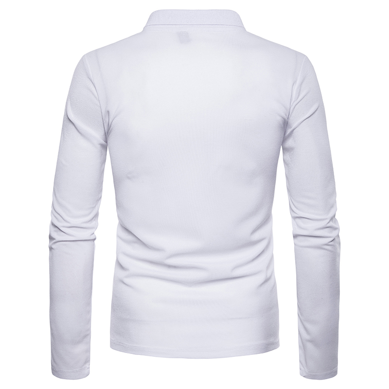 Image 4 - Covrlge 2018 High Quality Tops&Tees Men's Polo Shirts Business Fashion Autumn Slim Fit Style Long Sleeve Polo Shirt Men MTP102-in Polo from Men's Clothing