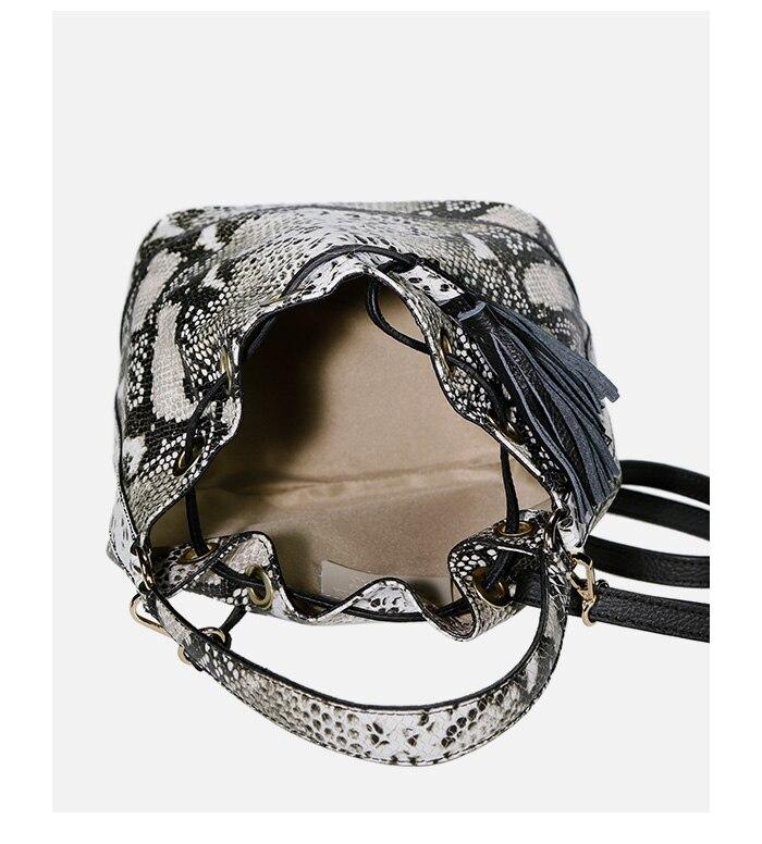 lulu milano Genuine leather leather printed snakeskin handbag made in Italy   P105-s 7