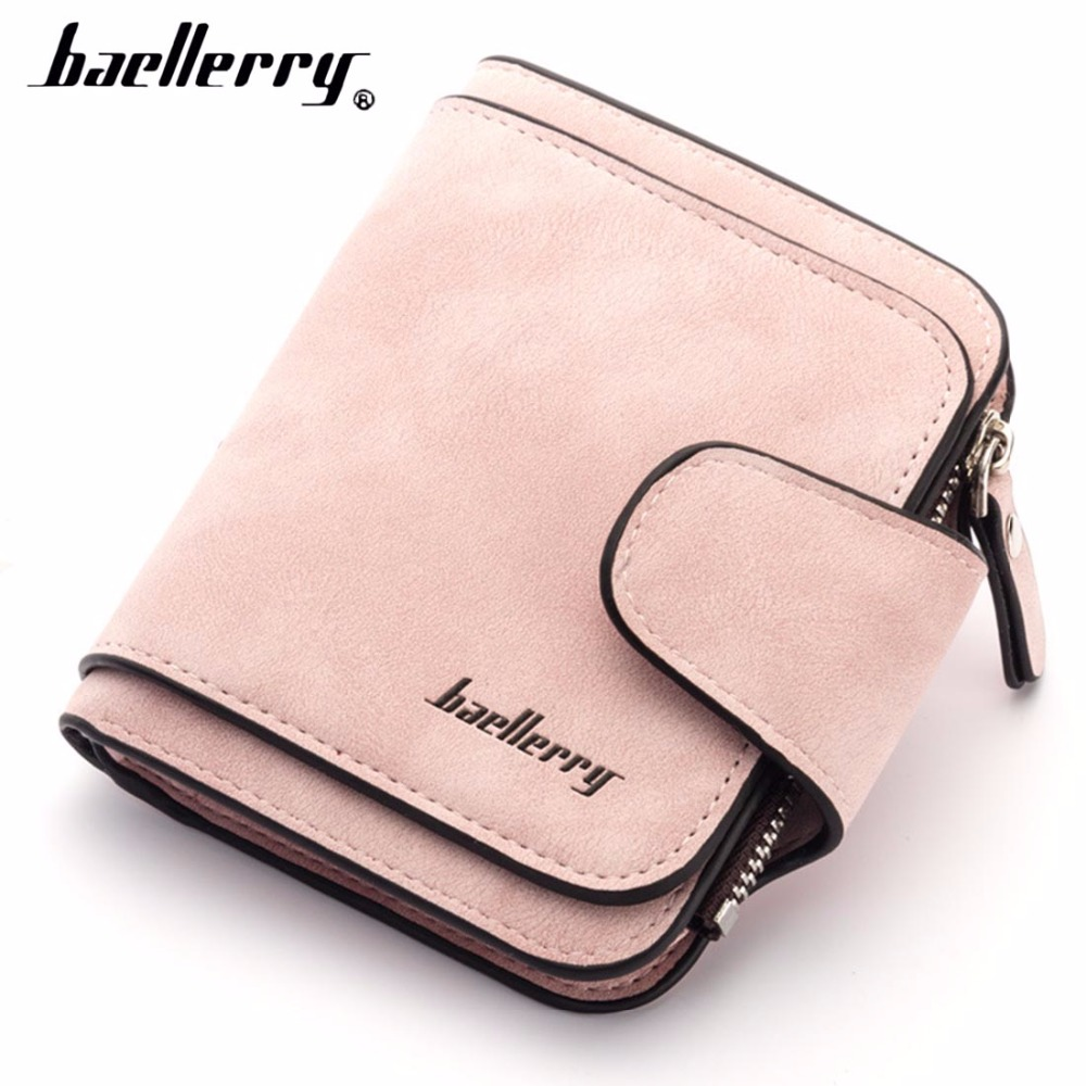 2018 Baellerry PU Leather Women Wallets Short Zipper Coin Pocket Women Purse Card Holder High Quality Female Purse cartera wallets men brand baellerry large capacity 16 card position credit card holder long zipper coin purse money bag purse cartera