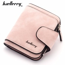 Купить с кэшбэком 2018 Baellerry PU Leather Women Wallets Short Zipper Coin Pocket Women Purse Card Holder High Quality Female Purse cartera