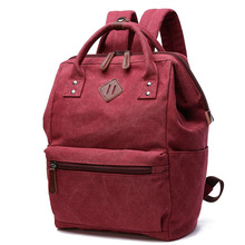 حقائب ظهر عصرية للنساء من Mochila مناسبة للكلية ، حقيبة كتف من القماش الكتاني للنساء ، حقيبة مدرسية للمراهقين ، حقيبة ظهر للفتيات