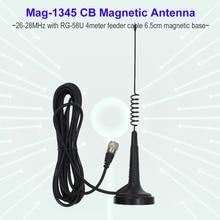 27MHz CB Radio Antenne Mag-1345 PL259 Stecker mit Magnet Basis und 4 meter feeder Kabel Zentrum für ZU-6666 Citizen Band Radio
