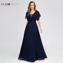 Ever Pretty Navy Blue Bridesmaid Dresses A-Line V-Neck Short