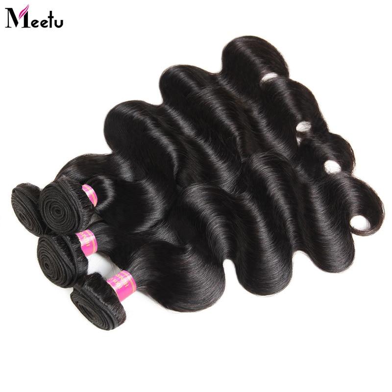 4 Bundles Brazilian Body Wave Bundles Deal Meetu Braziian Human Hair - Skönhet och hälsa - Foto 6
