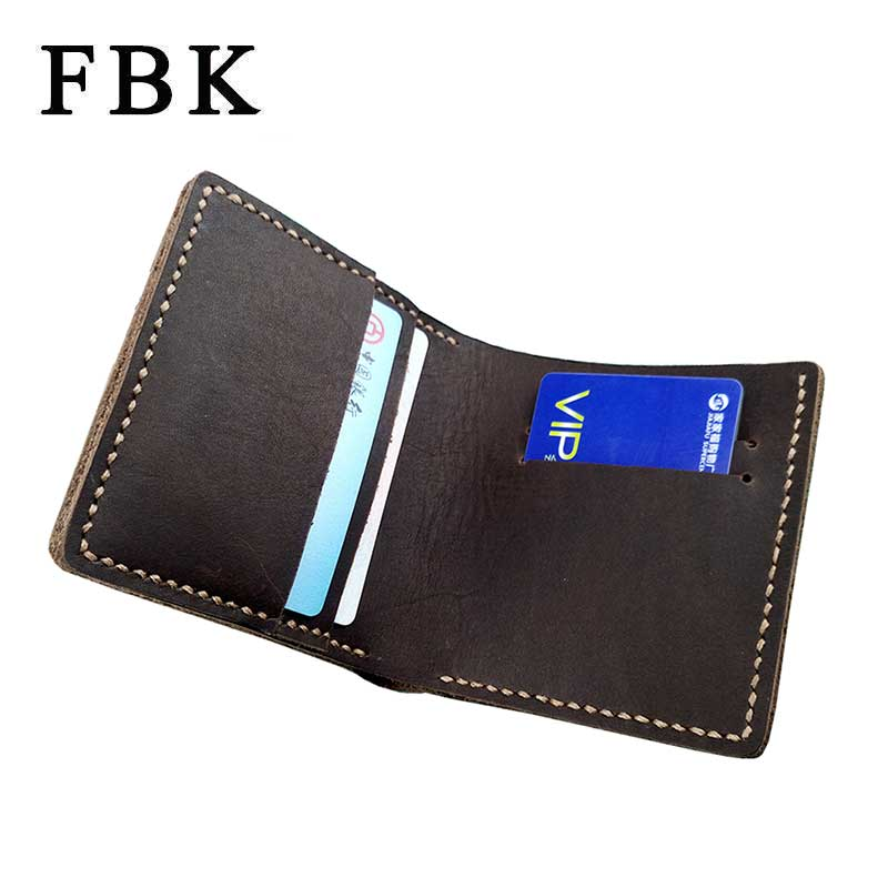 100% Genuine Leather Thicken Crazy Horse Men Wallets Short Purses Handmade Limited Large Capacity High-End Quality Card Holders