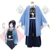 Anime Touken Ranbu Online The Sword Dance Yamatonokami Yasusada Cosplay Costumes Kimono Fighting Suit Full Set With Scarf