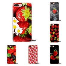 strawberry For Samsung Galaxy S3 S4 S5 Mini S6 S7 Edge S8 S9 S10 Plus Note 3 4 5 8 9 Transparent Soft Cases Covers(China)