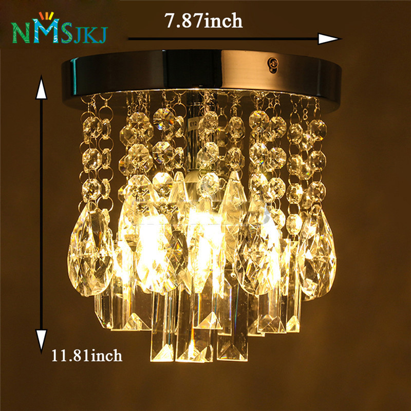 Contemporary Crystal Chandeliers Chrome Ceiling Lamp Fixture for ...