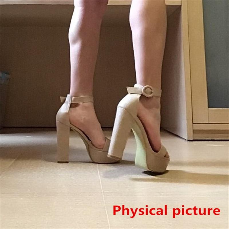 HTB1GFw.d21H3KVjSZFBq6zSMXXab Brand Elegant sandals Women High Heels Pumps Super high heel 13cm Women's Banquet sandals waterproof platform toe sandals