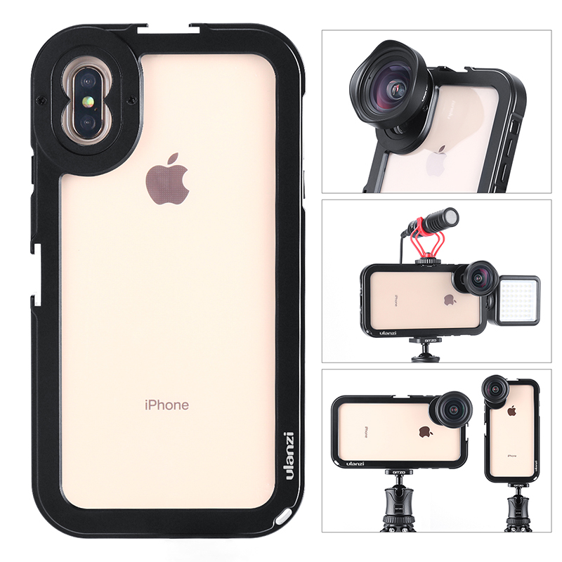 Ulanzi Updated Vlog Metal Rig Case for iPhone Xs Max Magnetic Vlogging Filmmaking Case with Moment Lens Thread Mount 17MM Ulanzi Updated Vlog Metal Rig Case for iPhone Xs Max Magnetic Vlogging Filmmaking Case with Moment Lens Thread Mount 17MM