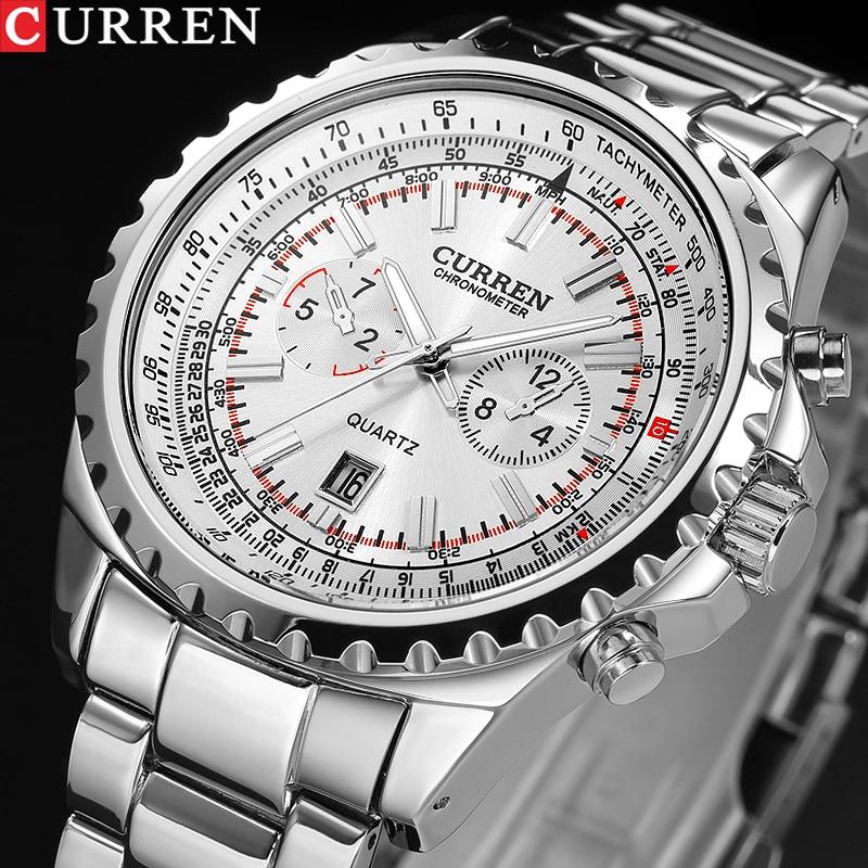 New Top Luxury Brand Quartz Watch Men's Fashion Dress Tag silver full steel Business Colck Male Simple Casual Wristwatch gift кабельный щит brand new f98 85 58 33 sbd7781