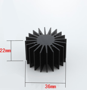 Free ship 5pcs/lot 3W high power LED sunflower radiator 36*22mm high thermal conductivity aluminum black oxidation heatsink 5pcs lot pure copper broken groove memory mos radiator fin raspberry pi chip notebook radiator 14 14 4 0mm copper heatsink