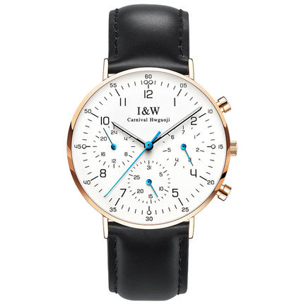 Carnival IW Serier 8787-6G Waterproof 30m Ultrathin Case Business Men Quartz Watch Wristwatch