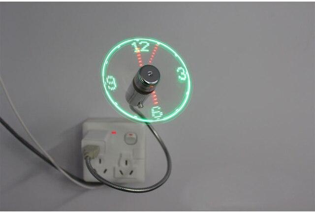 MINI Flexible LED USB Clock Fan Watch 3