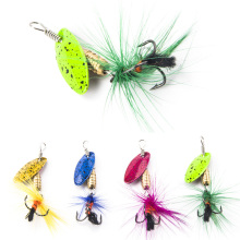 Fly Fishing Lure Set 4 pcs /set Insect Artificial Fishing Bait Feather Single Treble Hooks Carp Fish Lure