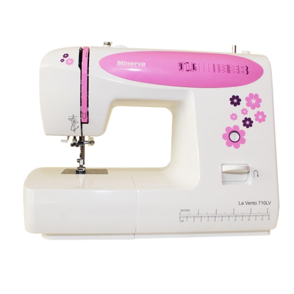 Sewing machine Minerva La Vento 710LV (10 operations, The Length Of The stitch: 4mm, Width stitch: 5mm) швейная машина minerva la vento 710lv белый розовый