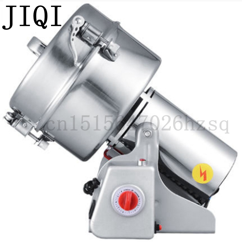 JIQI Portable medicine grinder Multifunction Swing 2000g grains mill powder grinding machine ultrafine herbs Crusher Pulverizer dry food grinder machine swing type electric grains herbal powder miller high speed spices cereals crusher w ce ccc