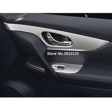 Car Door Chrome Window Lift Switch Button Inside Handle Frame Trim Cover For Nissan X-Trail XTrail T32 2014 -2018 2019
