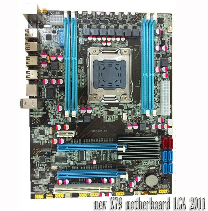 Bureau carte mère nouveau X79 carte mère LGA 2011 soutien REG ECC serveur mémoire Tout solide conseils livraison gratuite