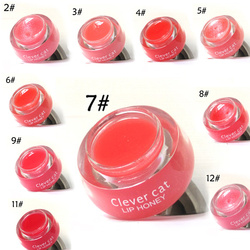 Cute Lips Makeup Crystal Shine Lip Honey Moisturizer Hydrating Gloss Fruit Extracts Lips Balm HS11