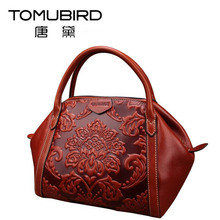 2016 New luxury handbags women bags designer genuine leather chinese style embossing quality women leather handbags shoulder bag