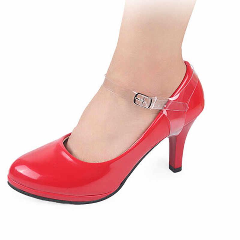 2 adet/grup Elastik Plastik Ayakabı Yüksek Topuk Askısı Kadın Ayakkabı Sneakers Dizeleri Moda Görünmez Anti-gevşek Kayış