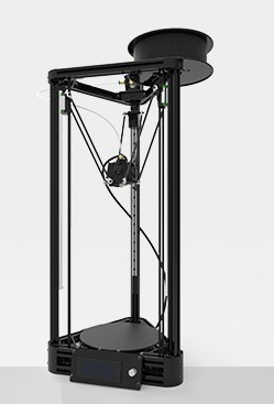 A linear guide rail 3D printer with a hot bed with a power supply
