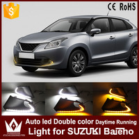 Nightlord DRL With Yellow Turn Signal Lights For Suzuki Baleno 2016 2017 Daytime Running Light Auto