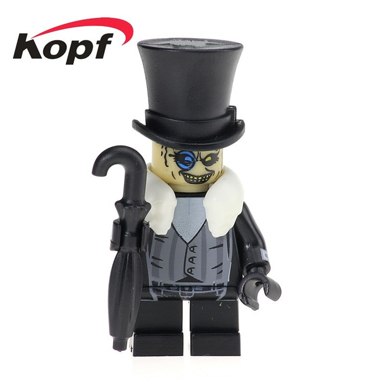 20Pcs Super Heroes Movie Batman Evil Penguin Crafty Face Bad Guy Penguin Bricks Action Building Blocks Children Gift Toys PG169