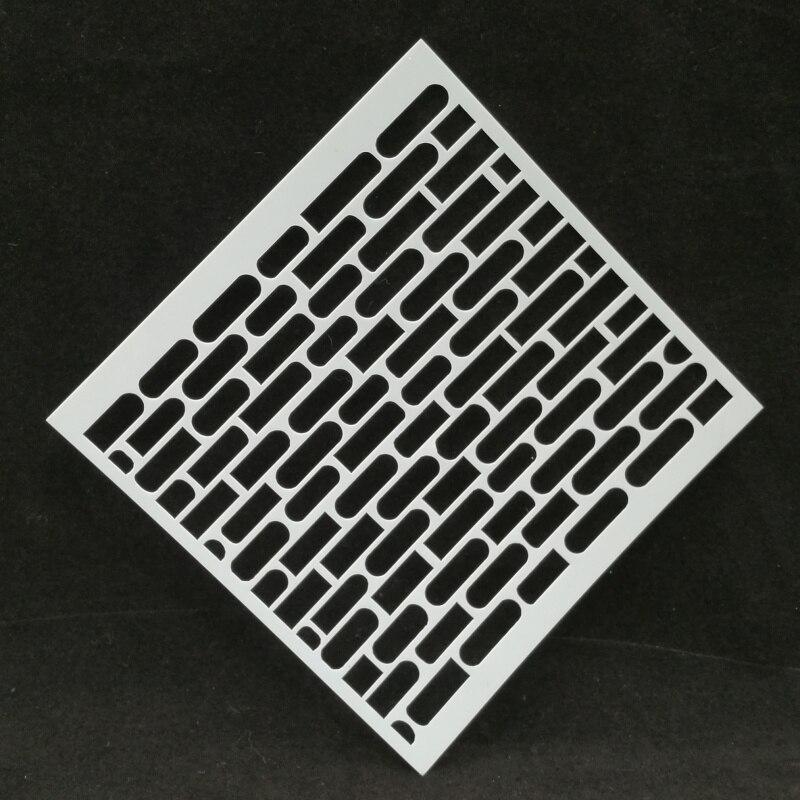 Pochoirs de superposition de briques pour la coloration de album à faire soi-même, pochoir de peinture, bricolage de décoration, etc. image du produit
