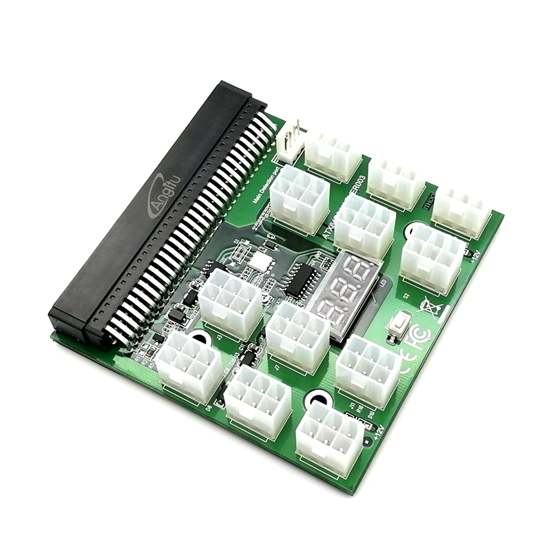 12pcs 6Pin Plugs Breakout Board With Power On/Off Switch for Bitcoin Mining mining power combination for ps 2112 2ld ps 2112 2l 1100w with breakout board and 10pcs wire fully tested