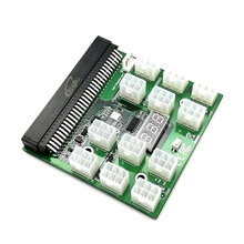 Купить с кэшбэком 12pcs 6Pin Plugs Breakout Board With Power On/Off Switch for Bitcoin Mining