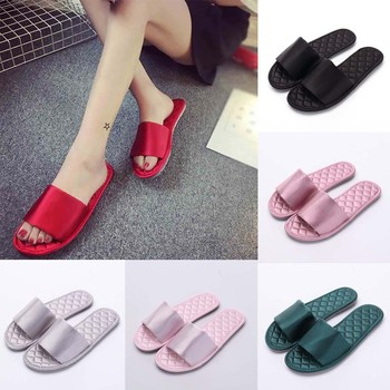Women Silk Flip Flops Slides 2019 New Fashion Slipper Sandals Soft Sole Home Bathroom Slippers Beach Shoes Soft Flip Flops online shopping in pakistan with free home delivery