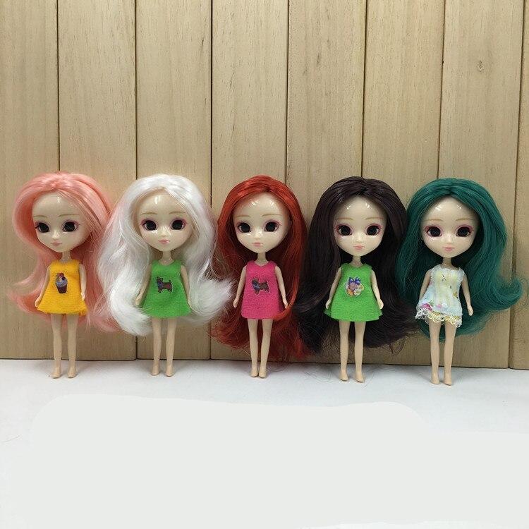 Pullip mini blyth doll 10CM DIY nude doll 10cm lovely cute long hair factory doll kawaii кукла pullip gosomi isul