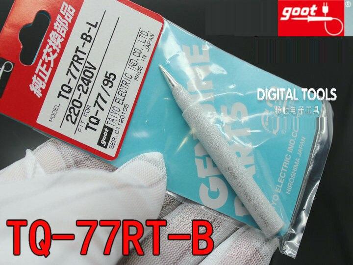 1 unids original Japón Goot reemplazable Cautín ultra-durable para TQ-77 y TQ-95 220 V-240 V Tipo de calor interno