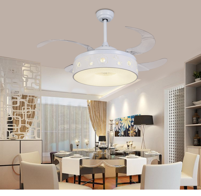 Invisible ceiling chandelier fan restaurant fan light bedroom living invisible ceiling chandelier fan restaurant fan light bedroom living room frequency conversion simple modern home led aloadofball Images