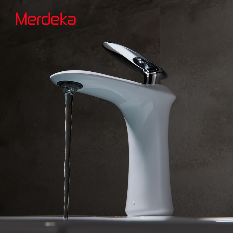 Faucet Basin Mixer White Vanity Tapware Plumbing Fittings Hot Cold Water  For Bathroom Sanitaryware Single Lever Deck Mounted декор lord vanity quinta mirabilia grigio 20x56