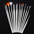 MOONBIFFY 15pcs Nail Art Decorations Brush Set Tools Professional Painting Pen for False Nail Tips UV Nail Gel Polish Newest